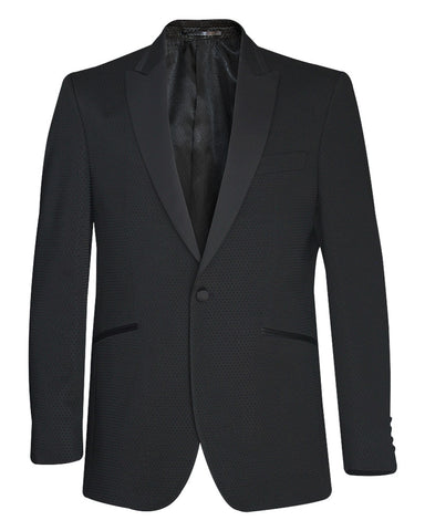 Tropical Doted Black Tuxedo Suit