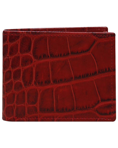 Leather Red Wallet - Just White Shirts
