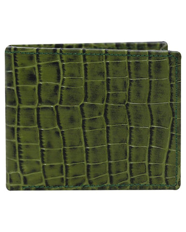 Leather Green Wallet - Just White Shirts