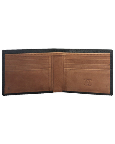 Leather Solid Black Wallets