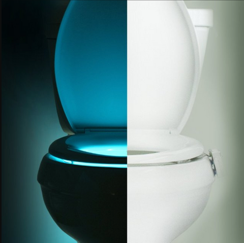 MOTION ACTIVATED TOILET LIGHT WITH 8 DIFFERENT COLORS