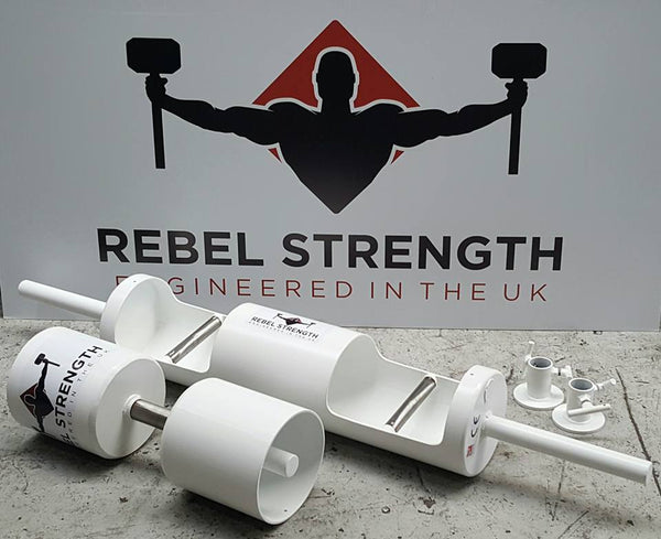 "Rebel Strength 9"" Log, Dumbbell & Collar Package"