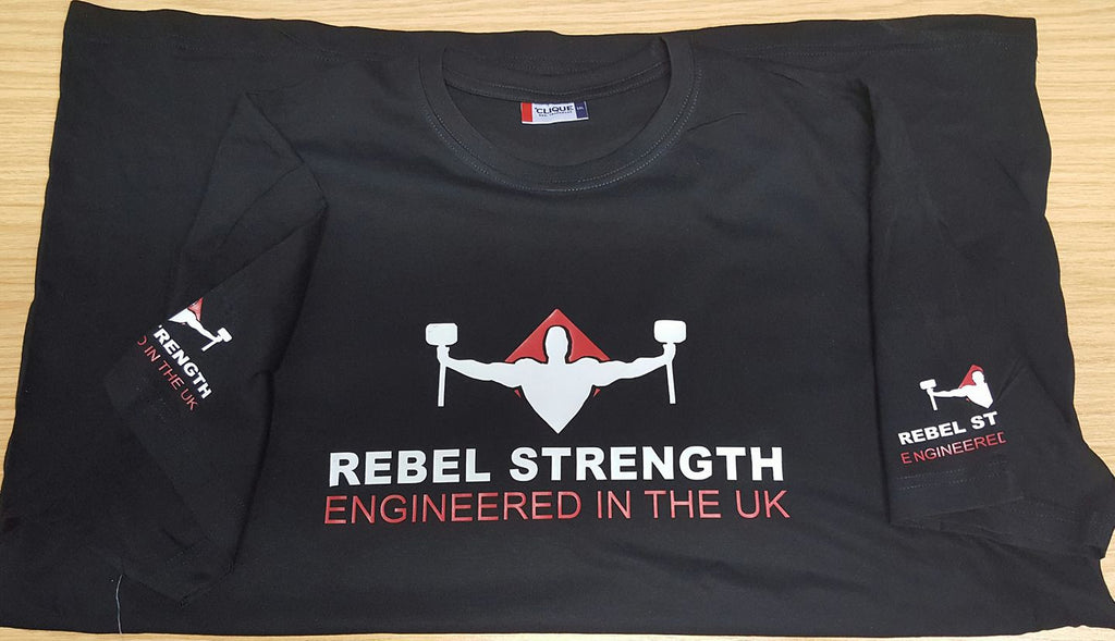 Rebel Strength Personalised Unisex Limited Edition Comp T-Shirt Black
