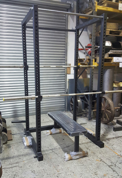 Rebel Strength Full Power Rack & Flat Bench Package
