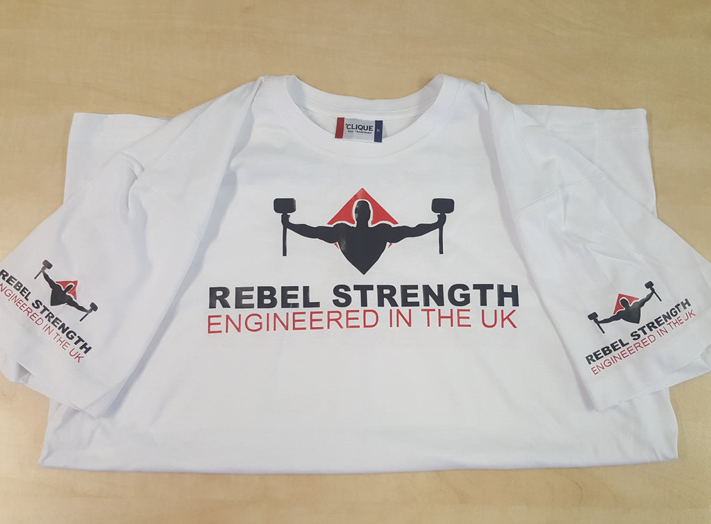 Rebel Strength Personalised Unisex Limited Edition Comp T-Shirt White