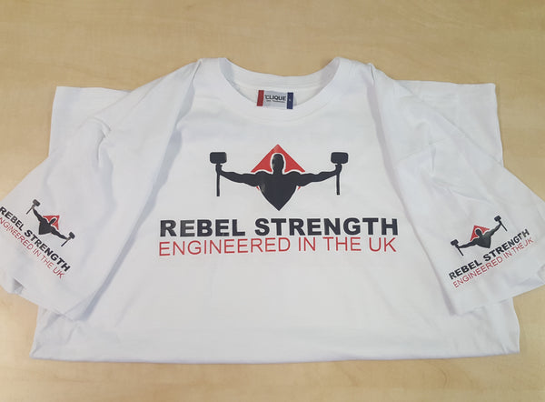 Rebel Strength Unisex Limited Edition Comp T-Shirt White