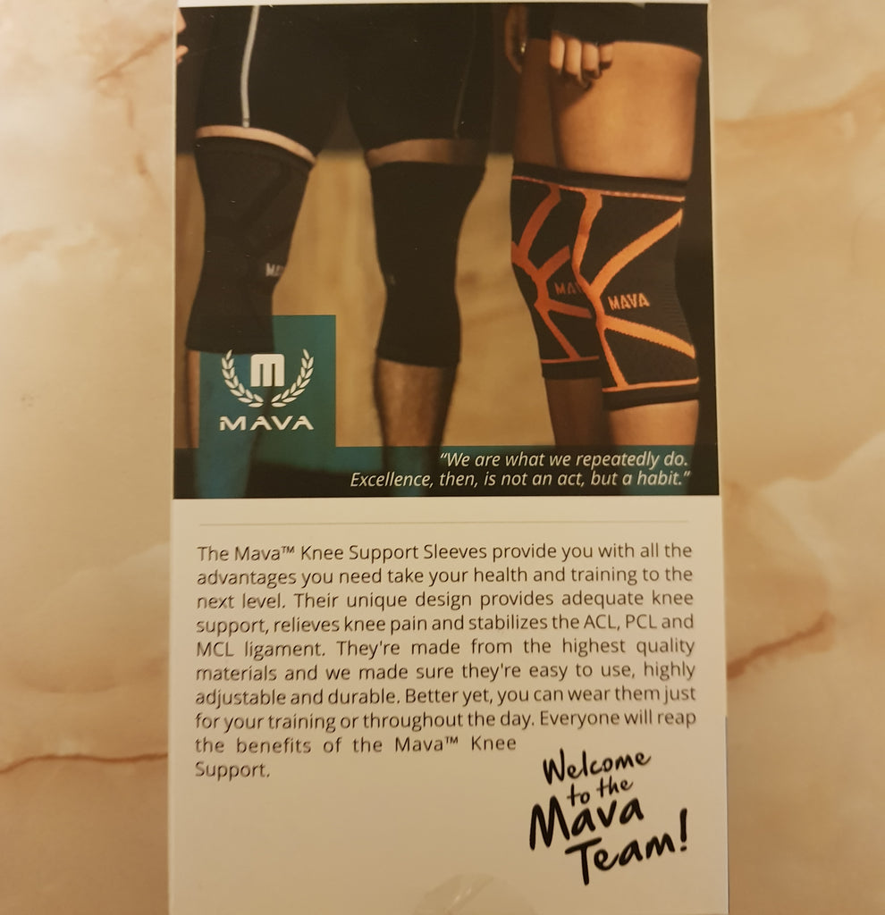 Mava compression knee sleeves