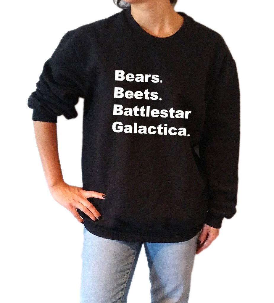 Bears Beets Battlestar Galactica - Unisex Sweatshirt for Women - shpfy