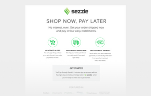 Now Accepting Sezzle! Shop Now. Pay Later.