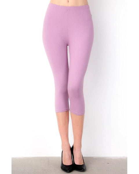 Summer Fun Butter Soft Capri Leggings in Lilac - Essentially Elegant