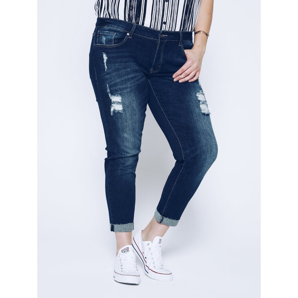 KanCan Distressed Skinny Jeans - Plus - Essentially Elegant
