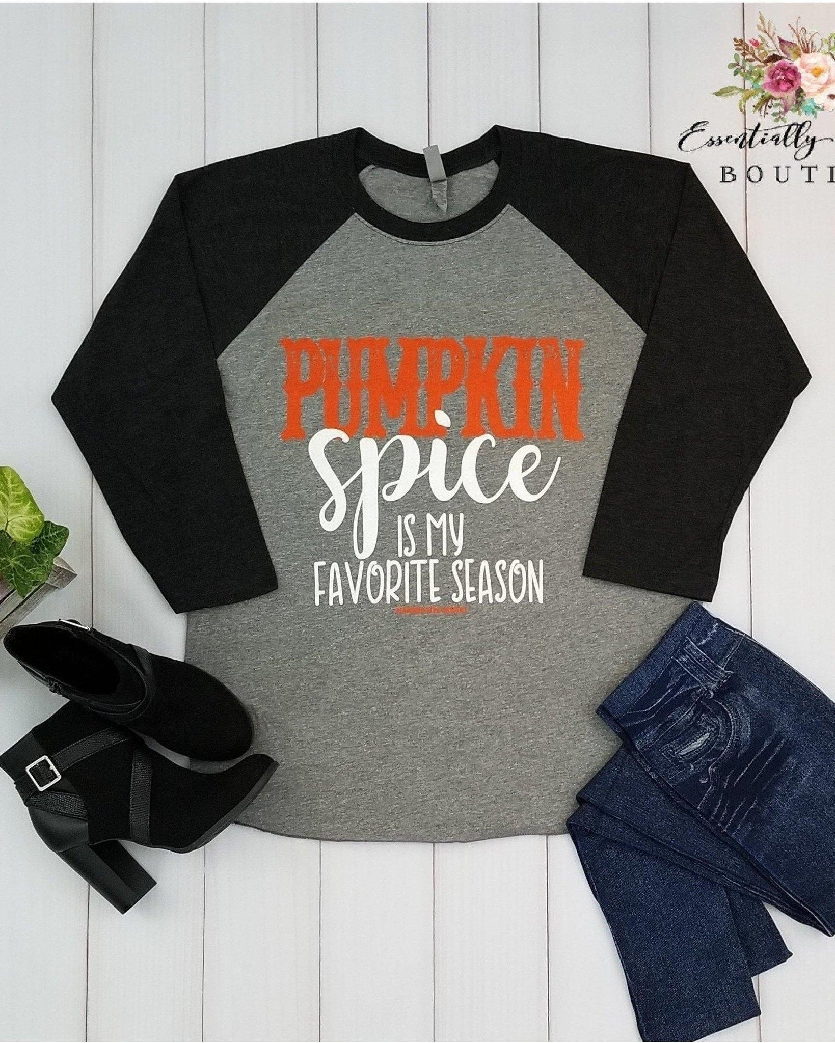 Pumpkin Spice Is My Favorite Season Baseball Tee - Essentially Elegant