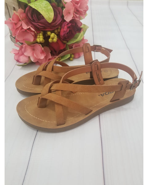 Comfy Meadow Women's Sandals - Camel - Essentially Elegant