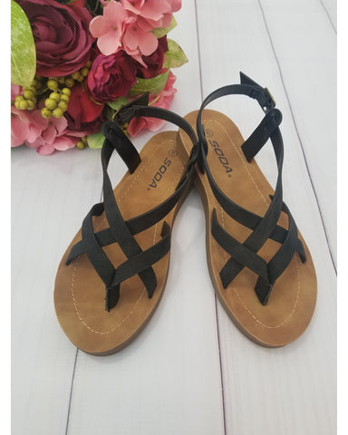 Comfy Meadow Women's Sandals - Black - Essentially Elegant
