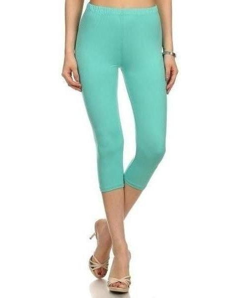 Summer Fun Butter Soft Capri Leggings in Mint - Essentially Elegant