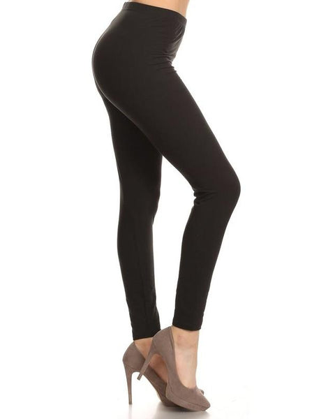 Simply Soft Everyday Butter Soft Full Length Leggings in Black - Essentially Elegant