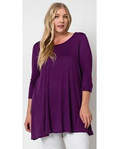 Kenzie Tunic - Purple - Essentially Elegant