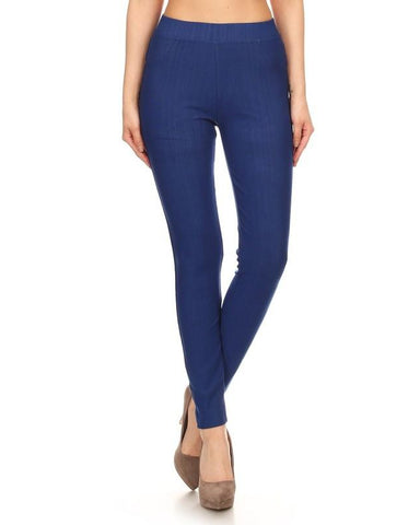 Super Stretch Skinny Jean Leggings in Blue Denim - Essentially Elegant