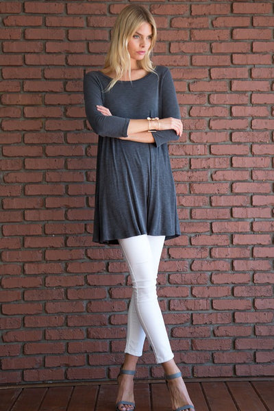 Kenzie Tunic - Coal Black - Essentially Elegant