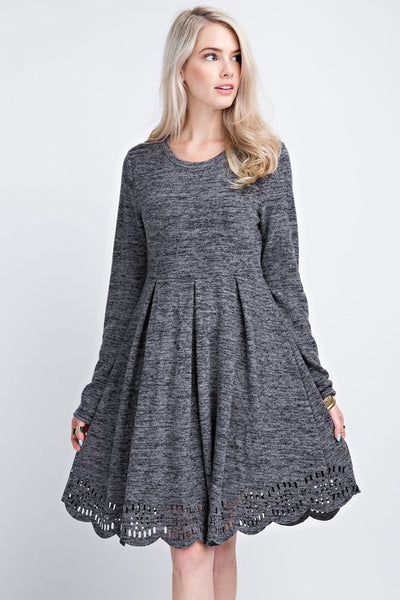 Emma Dress - Charcoal - Essentially Elegant