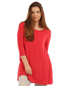 Kenzie Tunic - Red - Essentially Elegant