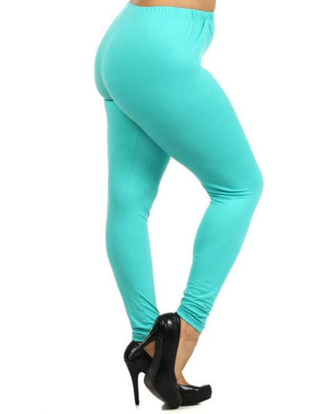 Simply Soft Everyday Butter Soft Full Length Leggings in Mint - Essentially Elegant