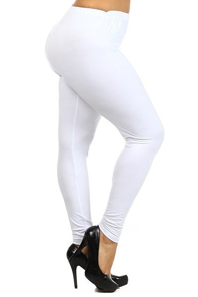 Simply Soft Everyday Butter Soft Full Length Leggings in White - Essentially Elegant