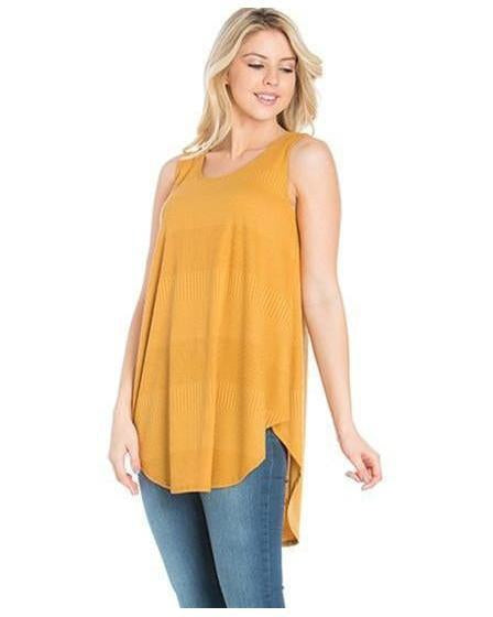 City Chic Sleeveless Knit Top in Mustard - Essentially Elegant