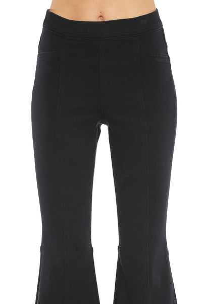 Cello High Rise Pull On Super Flare Jeans - Black