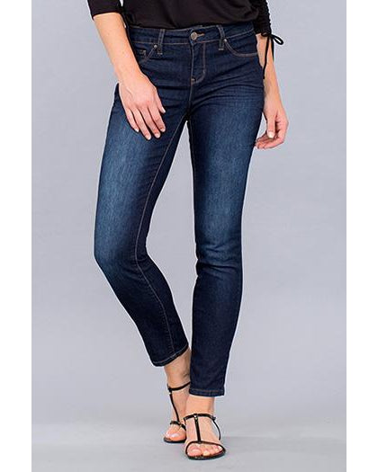 YMI - Royalty For Me Women's Basic Mid-Rise Jeans - Dark Wash - Essentially Elegant