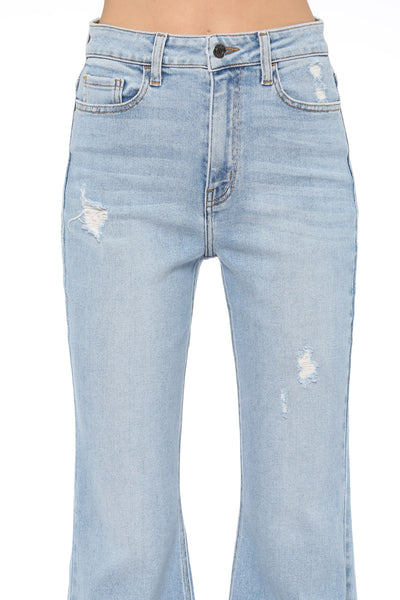 New Arrival!! Cello High Rise Distressed Super Flare Jeans