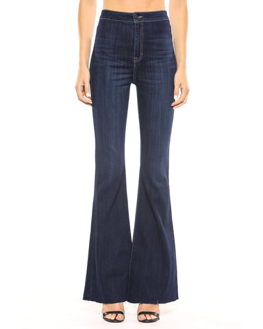 New Arrival!! Cello High Rise Dark Wash Super Flare Jeans - Essentially Elegant