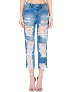 Coming Soon!!! Cello High Rise All Over Distressed Straight Leg Jeans - Essentially Elegant