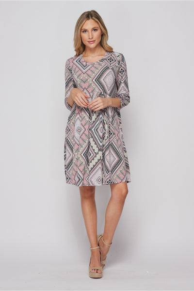New Arrival! Count Me In Babydoll Print Dress by HoneyMe