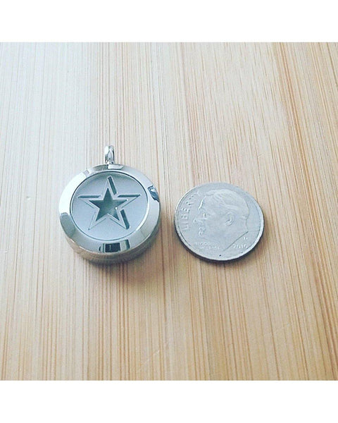 Kids Choose Your Color Mini Diffuser EE Exclusive *SUPERSTAR* 20mm 316L Stainless Steel Essential Oil Diffuser Magnetic Locket Necklace K065 - Essentially Elegant