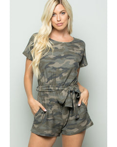 Always Prepared Camo Print Romper - Essentially Elegant