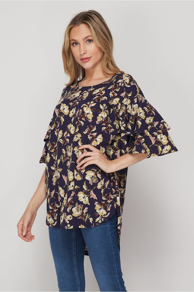 Make Your Mark Double Ruffle Sleeve Top by HoneyMe