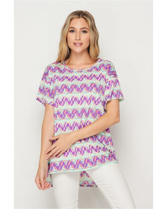 New Arrival! Fun & Funky Bold Print Top by HoneyMe