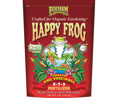 Happy Frog Tomato & Vegetable Fertilizer NPK 5-7-3, 4 Pounds