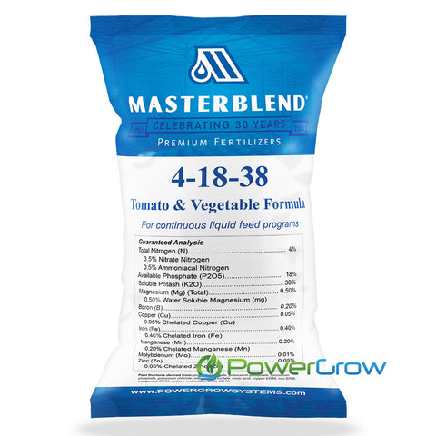 MasterBlend 4-18-38 Tomato & Vegetable Fertilizer - BULK