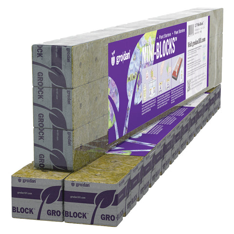 "Grodan Rockwool Cubes (45) 1.5"" Mini Blocks"