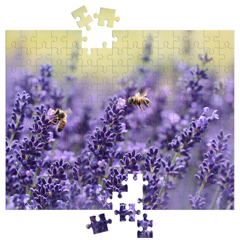 Lavender Bee Puzzle - Bees & Lavender Jigsaw Puzzle