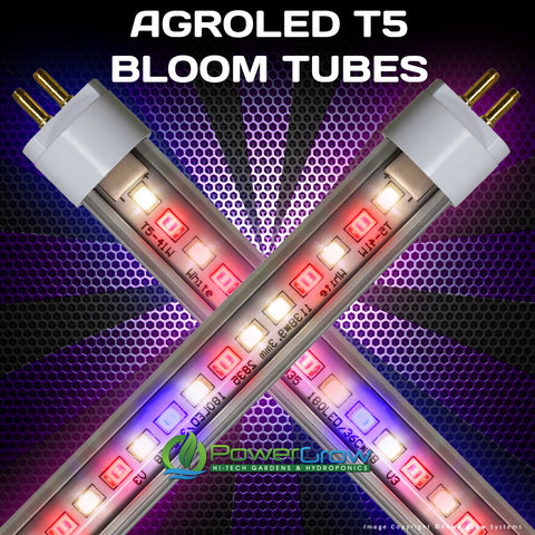 AgroLED® iSunLight® - LED T5 Bulbs - Full Spectrum BLOOM LED Grow Bulbs