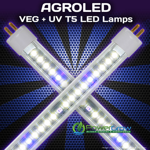 AgroLED® iSunlight® VEG + UV T5 LED Grow Bulbs