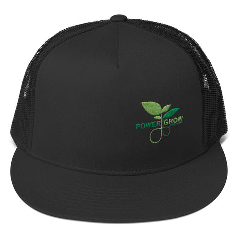 Trucker Snapback Hat - PowerGrow BigLeaf Logo