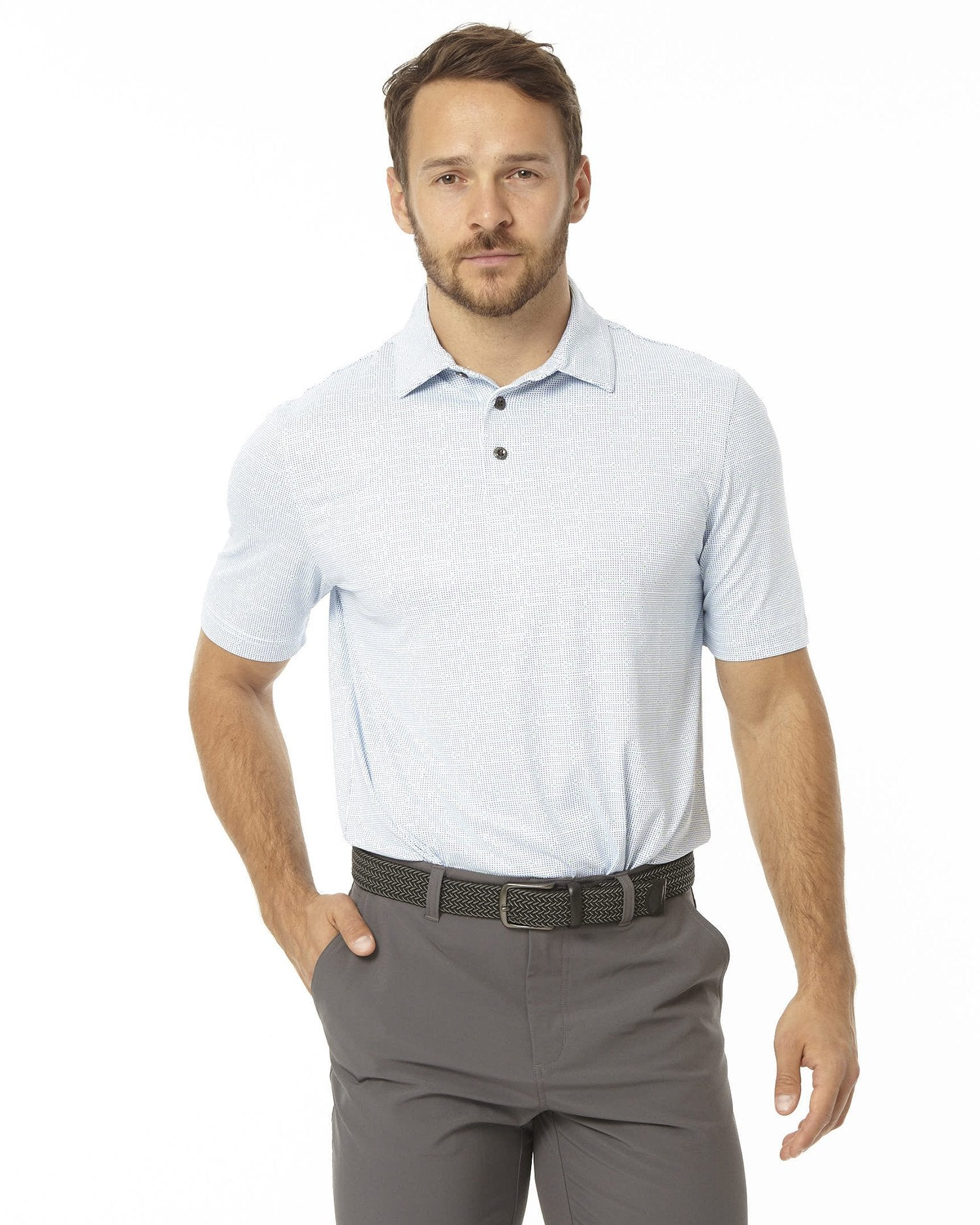GRID STRIPE MEN'S SS POLO
