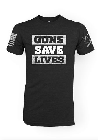 Guns Save Lives - Mens Tee Shirt