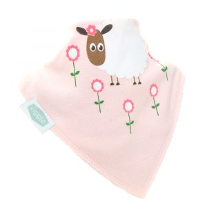 Ziggle Single Bib - Cute Pink Sheep