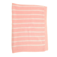 Ziggle Pink & White Stripe Cotton Blanket