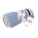 Ziggle Blue & Beige Stripes Blanket